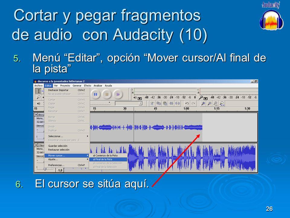 Cortar y pegar fragmentos de audio con Audacity (10)