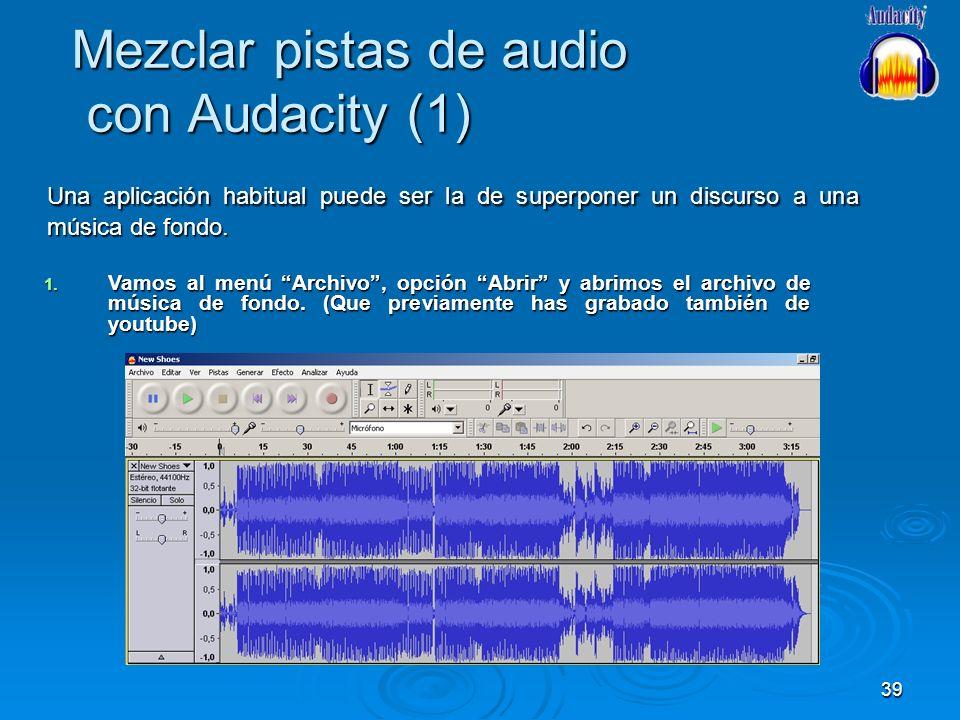 Mezclar pistas de audio con Audacity (1)