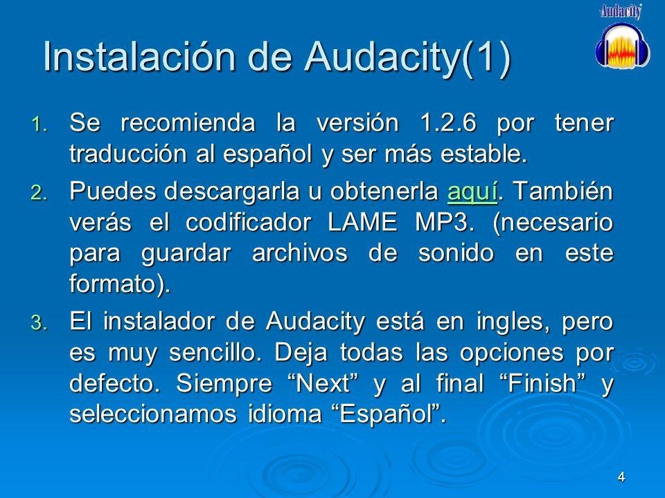 Instalación de Audacity(1)