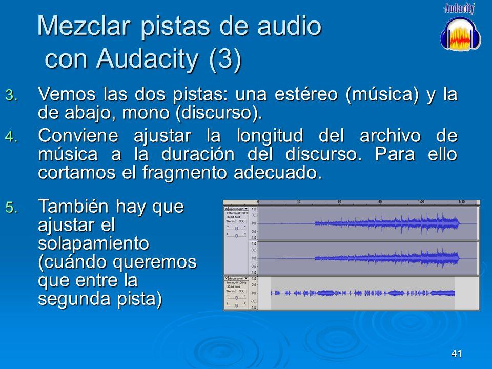 Mezclar pistas de audio con Audacity (3)