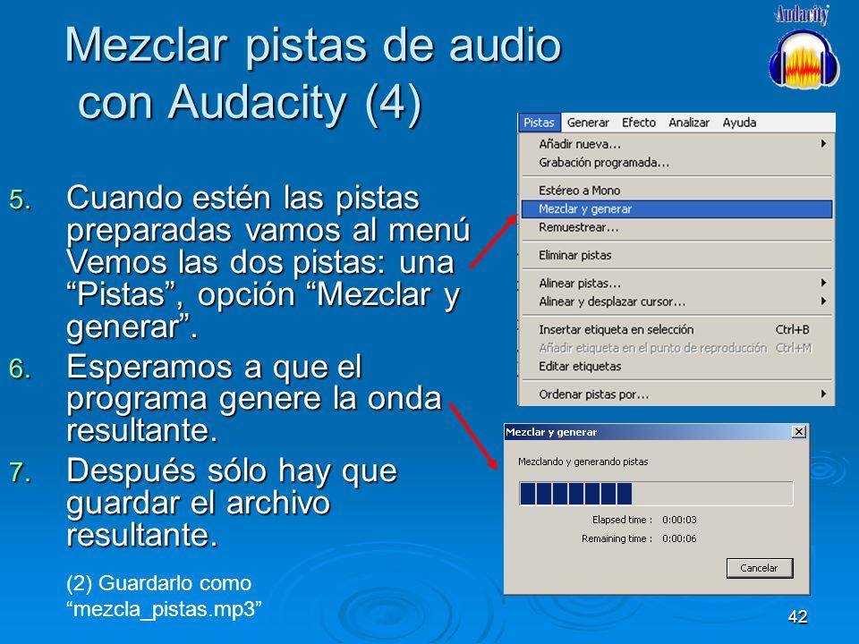 Mezclar pistas de audio con Audacity (4)