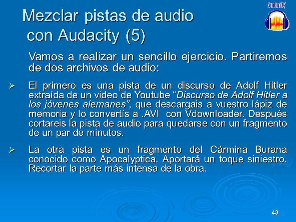 Mezclar pistas de audio con Audacity (5)