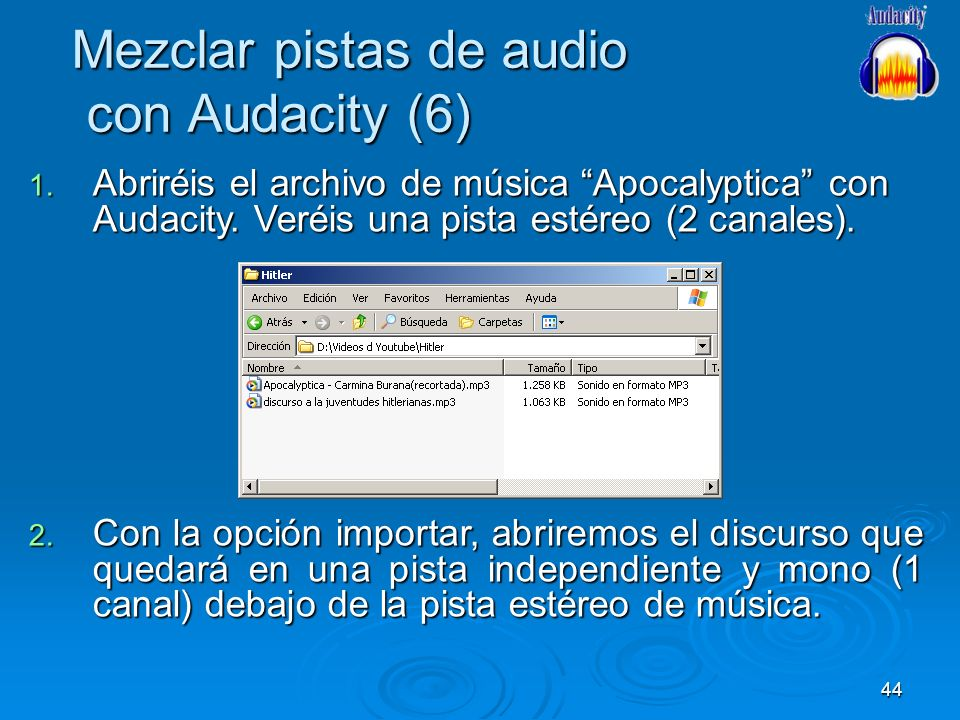 Mezclar pistas de audio con Audacity (6)