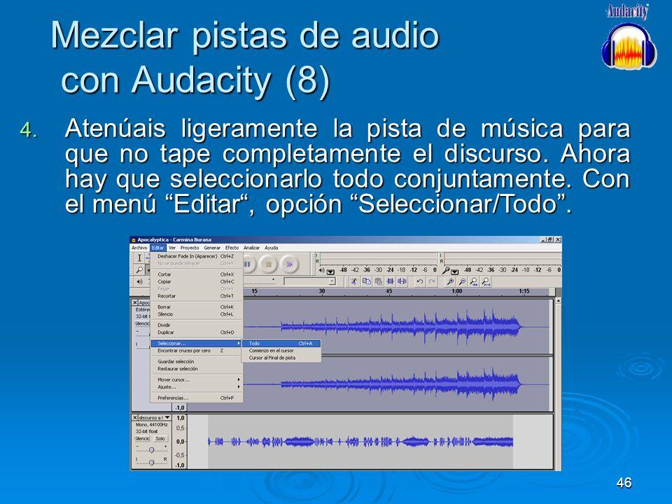 Mezclar pistas de audio con Audacity (8)