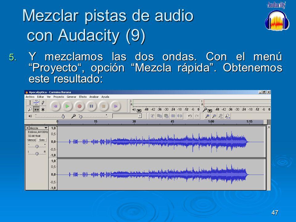 Mezclar pistas de audio con Audacity (9)