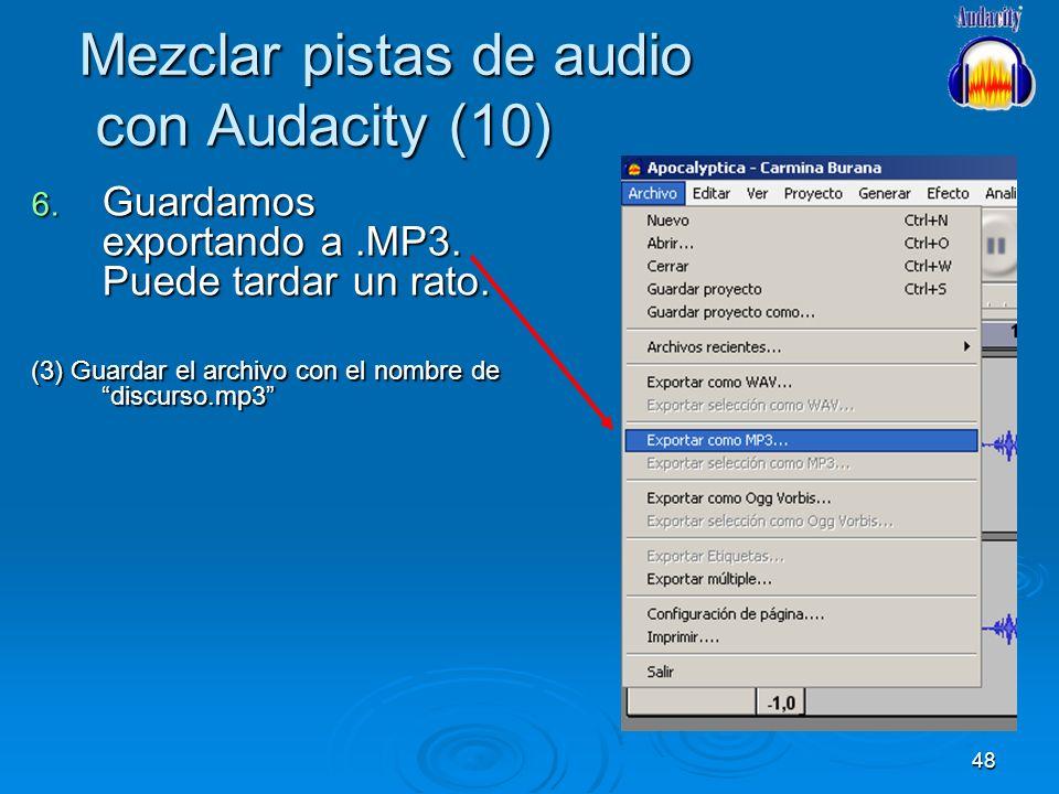 Mezclar pistas de audio con Audacity (10)