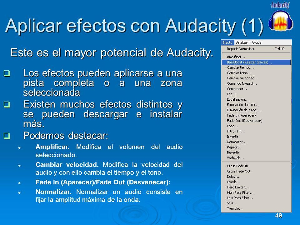 Aplicar efectos con Audacity (1)