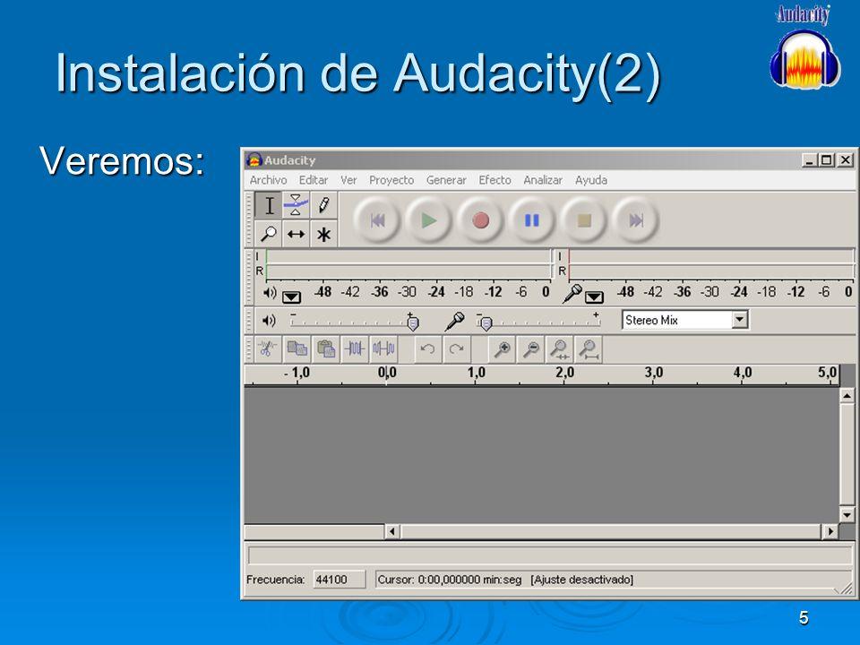 Instalación de Audacity(2)