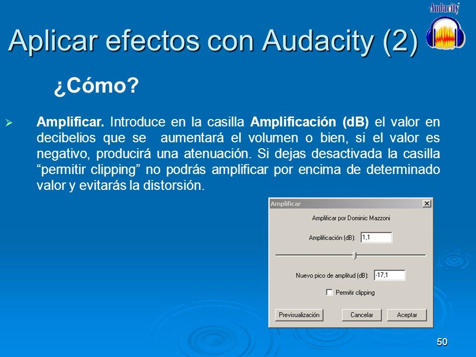 Aplicar efectos con Audacity (2)