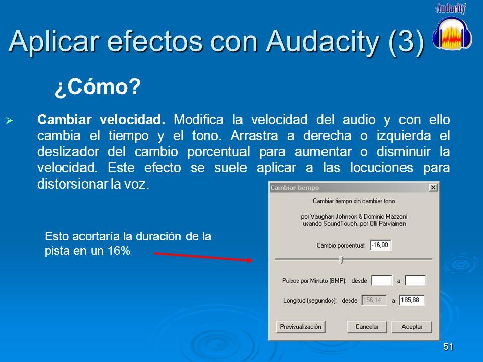 Aplicar efectos con Audacity (3)