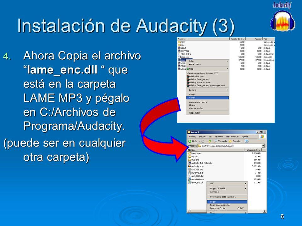 Instalación de Audacity (3)