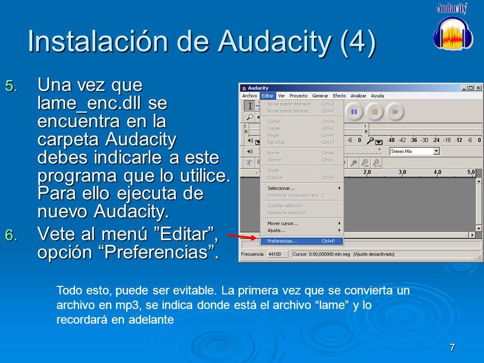 Instalación de Audacity (4)
