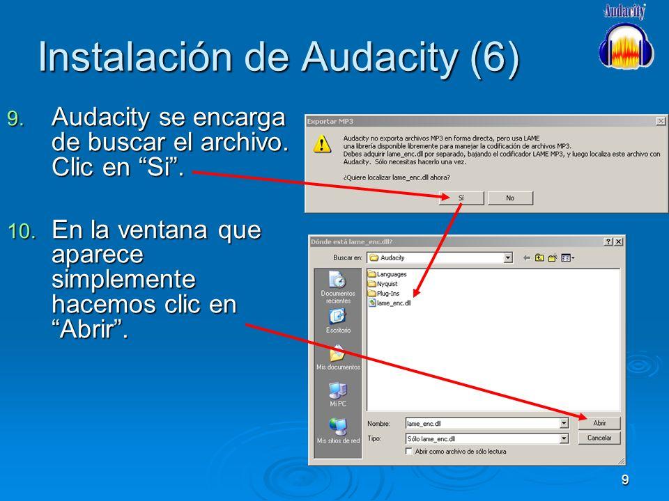 Instalación de Audacity (6)