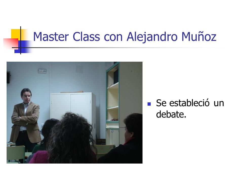 Master Class con Alejandro Muñoz