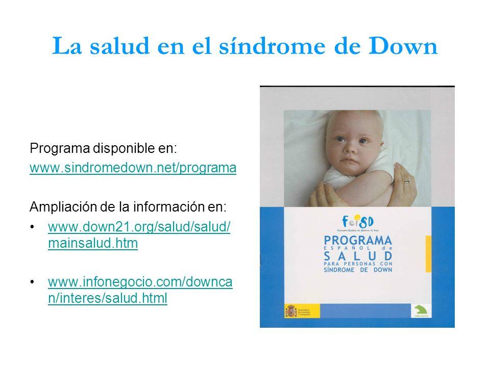 La salud en el síndrome de Down