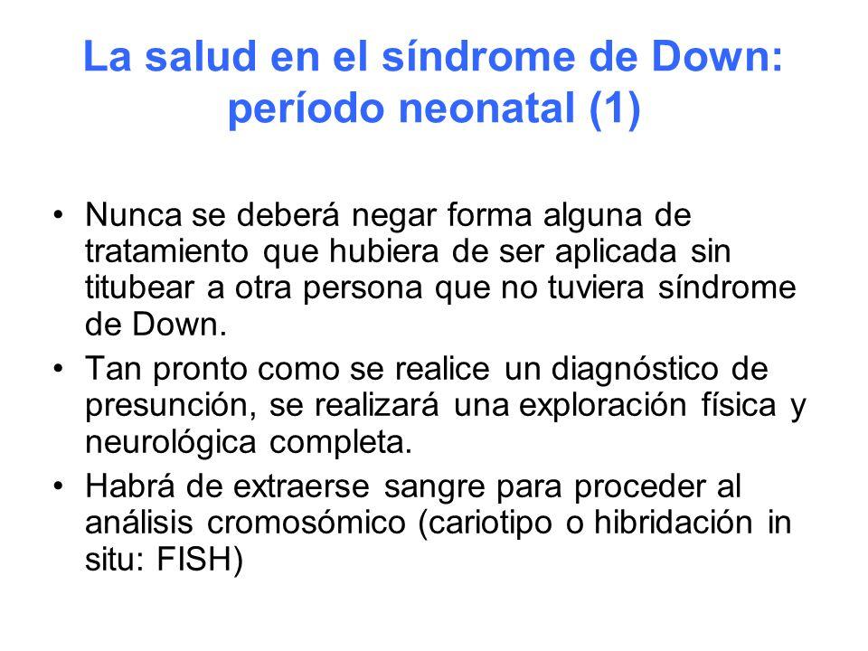 La salud en el síndrome de Down: período neonatal (1)