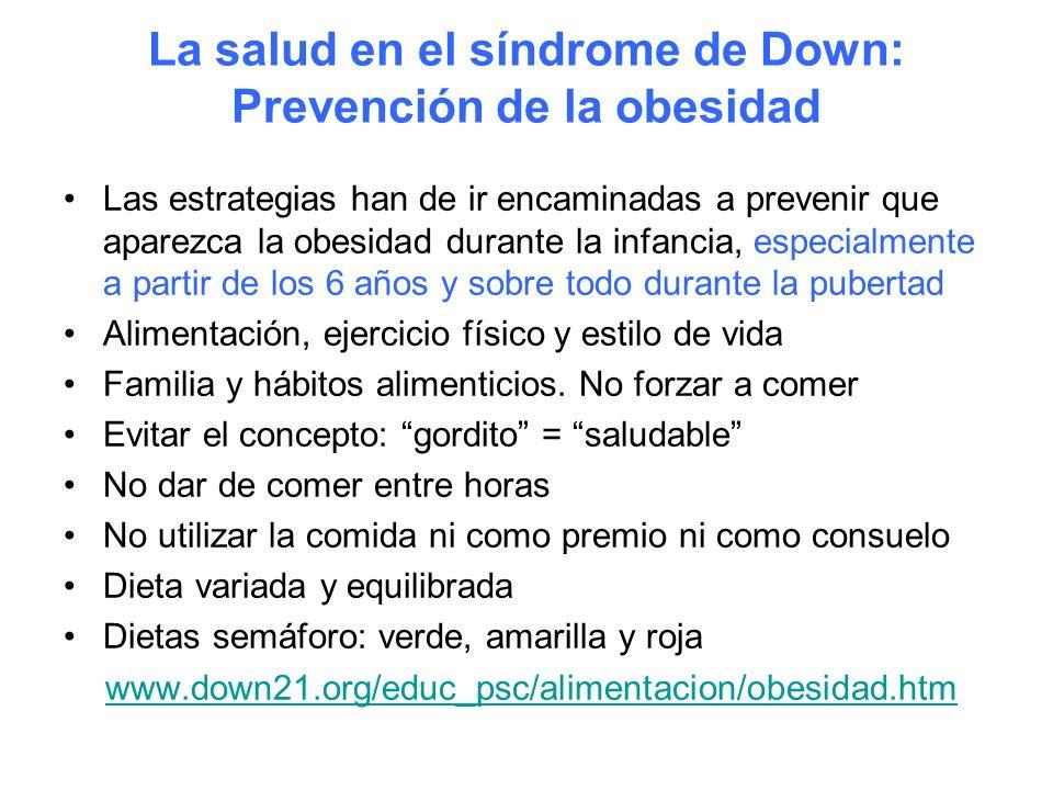 La salud en el síndrome de Down: Prevención de la obesidad