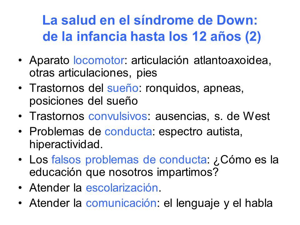 La salud en el síndrome de Down: de la infancia hasta los 12 años (2)