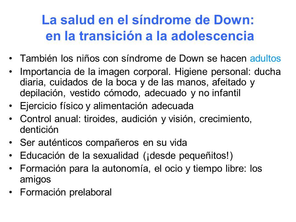 La salud en el síndrome de Down: en la transición a la adolescencia