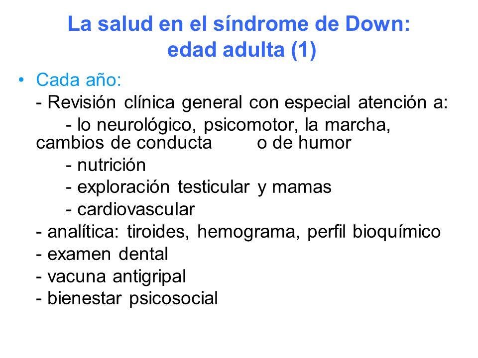 La salud en el síndrome de Down: edad adulta (1)
