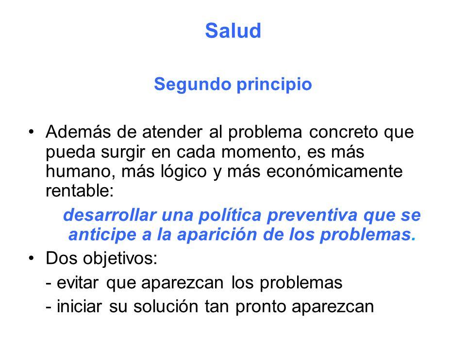 Salud Segundo principio