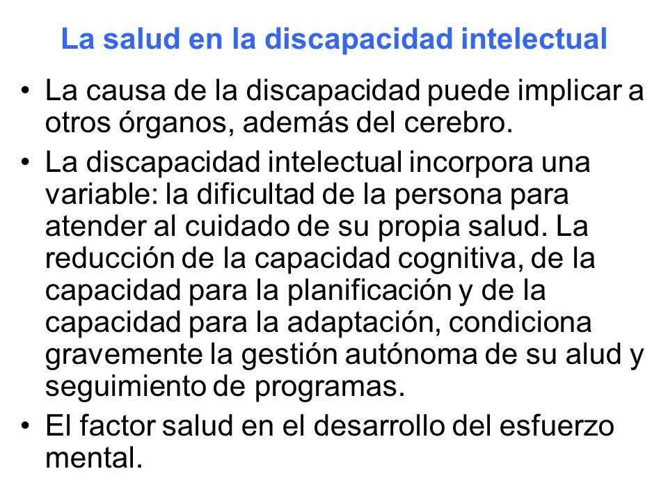 La salud en la discapacidad intelectual
