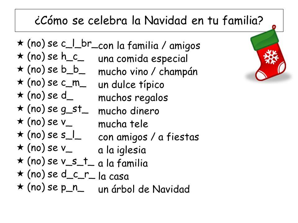 ¿Cómo se celebra la Navidad en tu familia