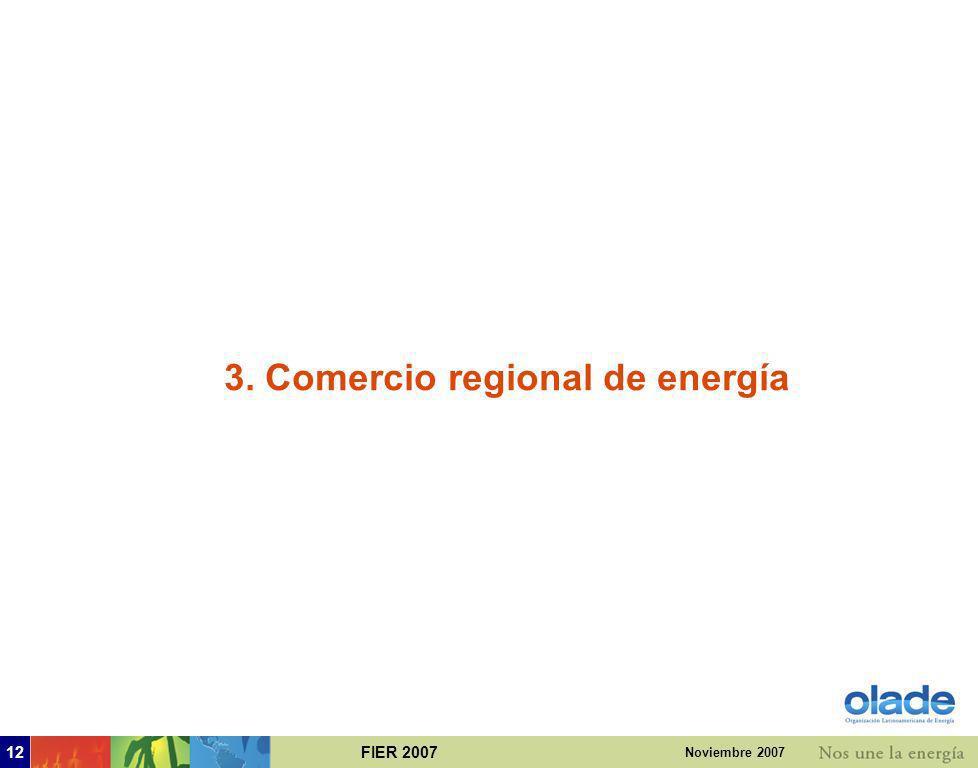 3. Comercio regional de energía