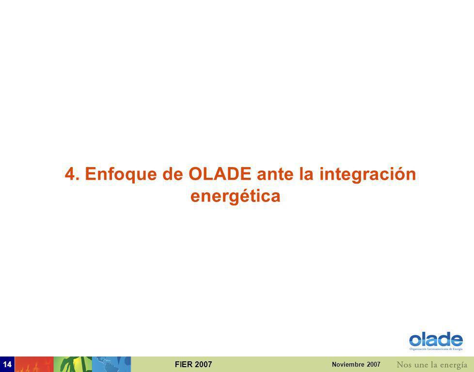 4. Enfoque de OLADE ante la integración energética