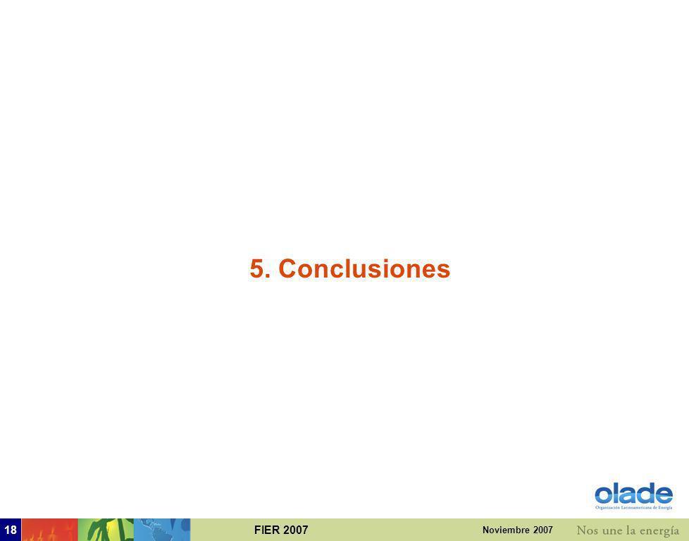 5. Conclusiones Noviembre 2007