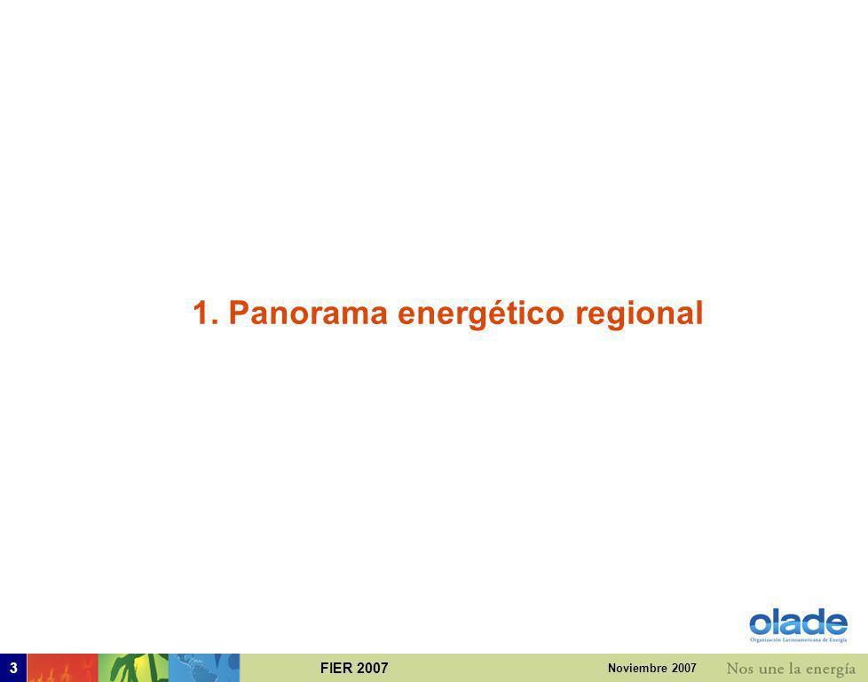 1. Panorama energético regional