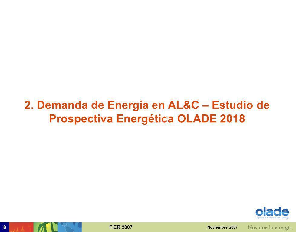 2. Demanda de Energía en AL&C – Estudio de Prospectiva Energética OLADE 2018