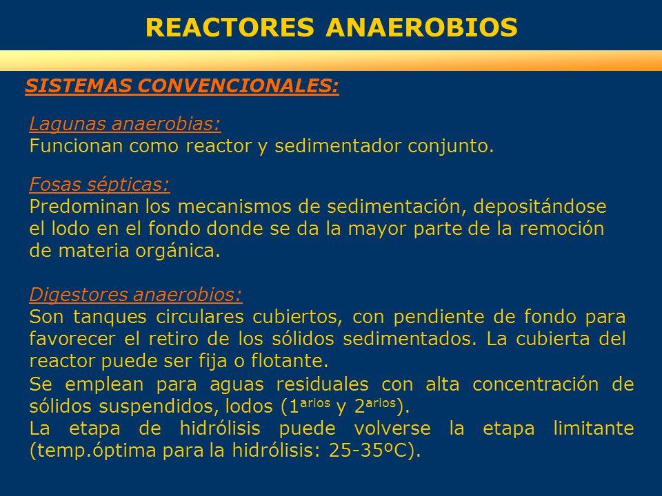REACTORES ANAEROBIOS SISTEMAS CONVENCIONALES: Lagunas anaerobias: