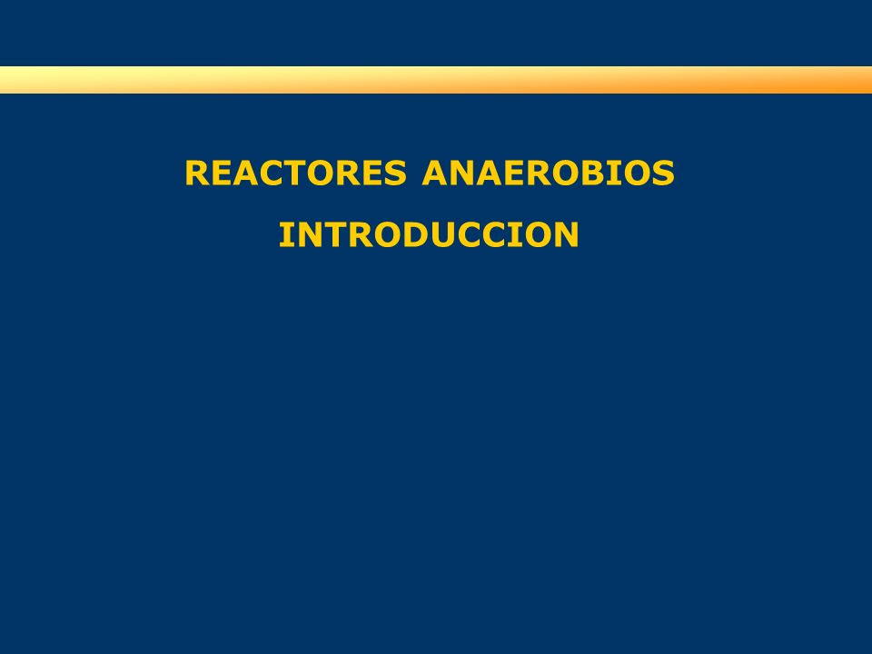 REACTORES ANAEROBIOS INTRODUCCION