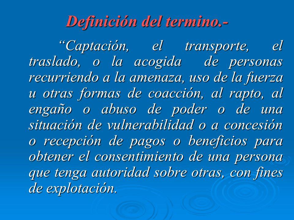 Definición del termino.-