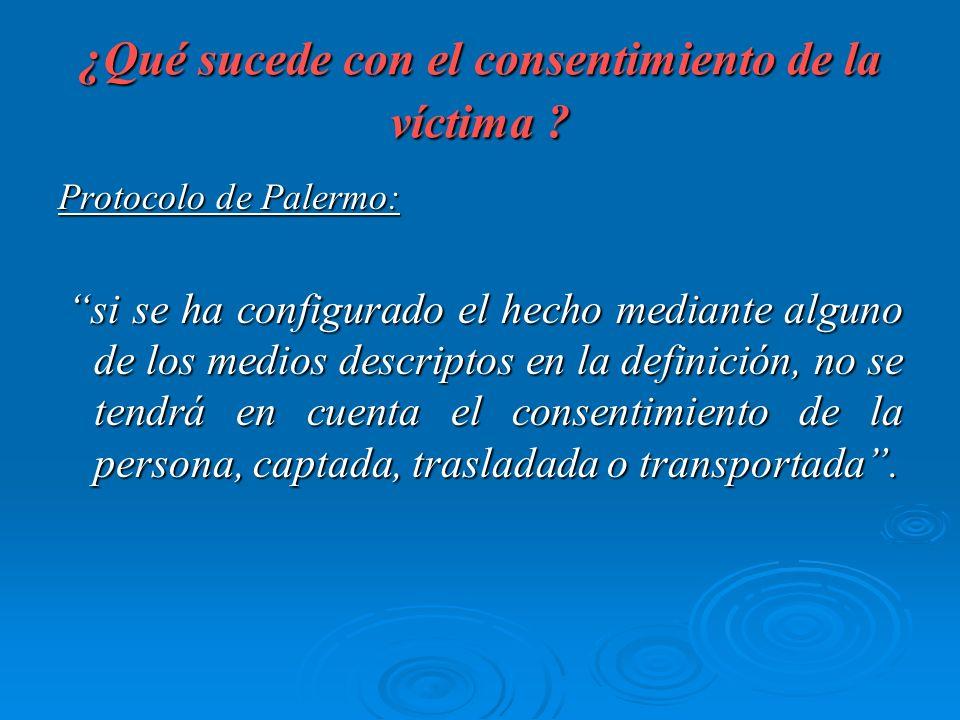 ¿Qué sucede con el consentimiento de la víctima