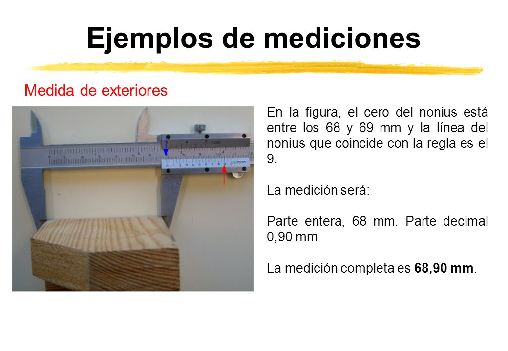Ejemplos de mediciones