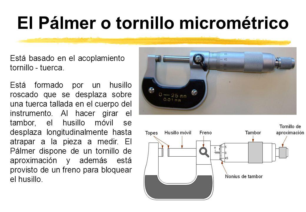 El Pálmer o tornillo micrométrico