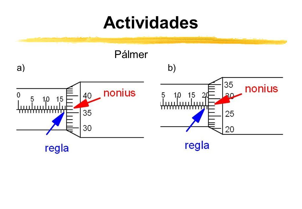 Actividades Pálmer a) b)