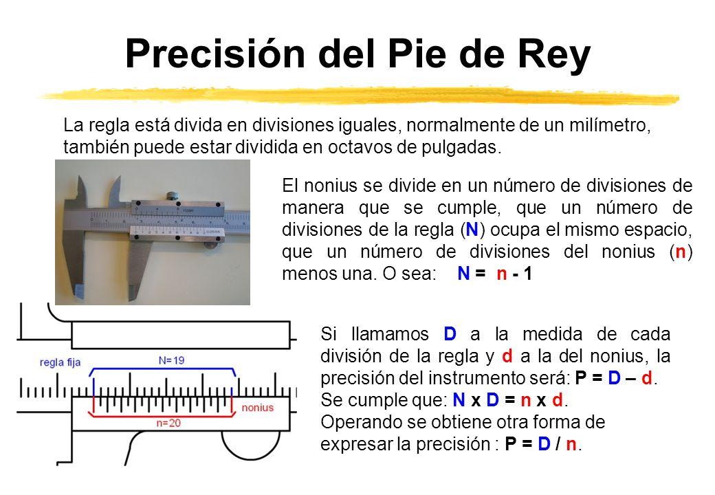 Precisión del Pie de Rey