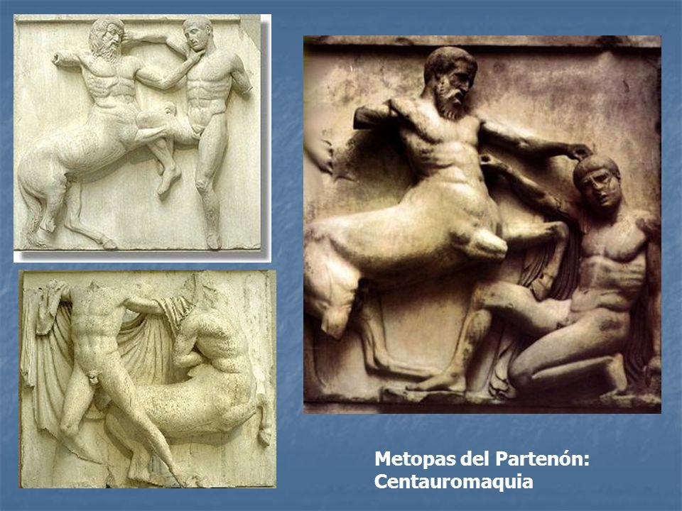 Metopas del Partenón: Centauromaquia