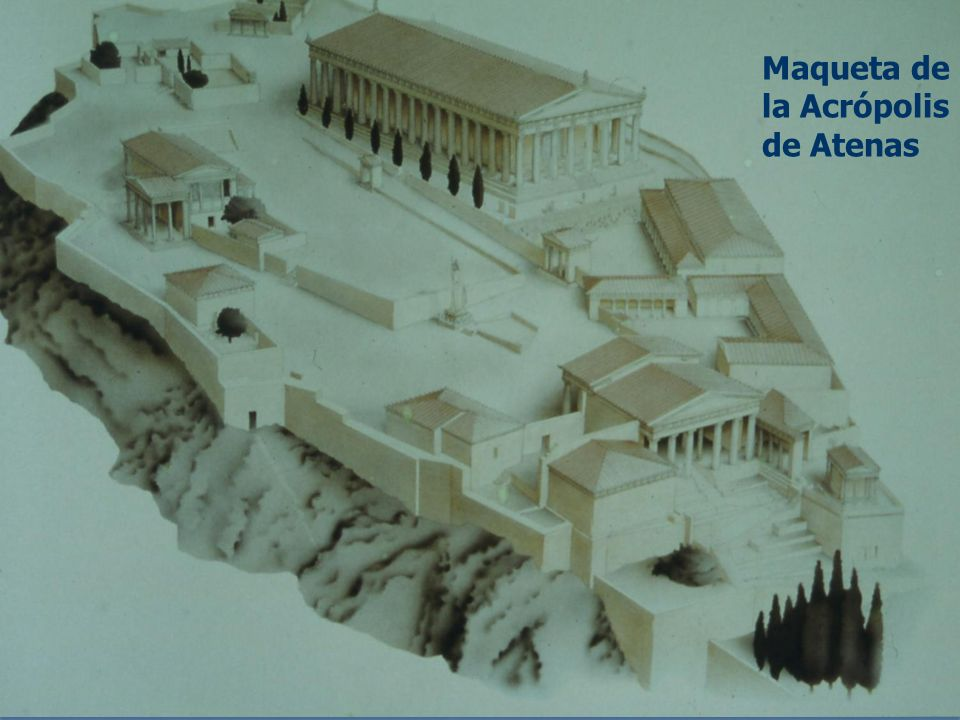 Maqueta de la Acrópolis de Atenas