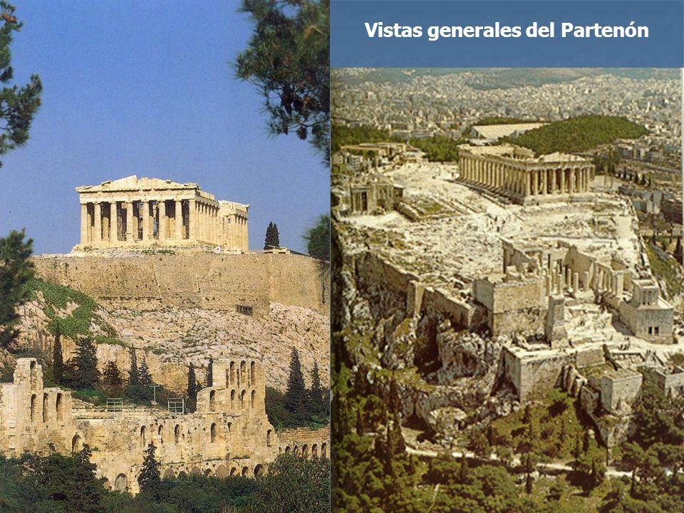 Vistas generales del Partenón