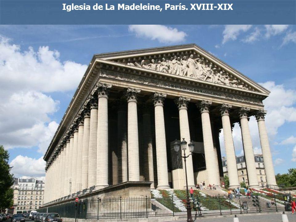 Iglesia de La Madeleine, París. XVIII-XIX