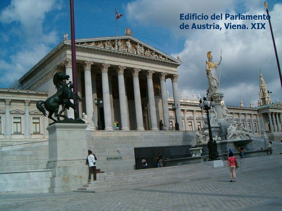 Edificio del Parlamento de Austria, Viena. XIX
