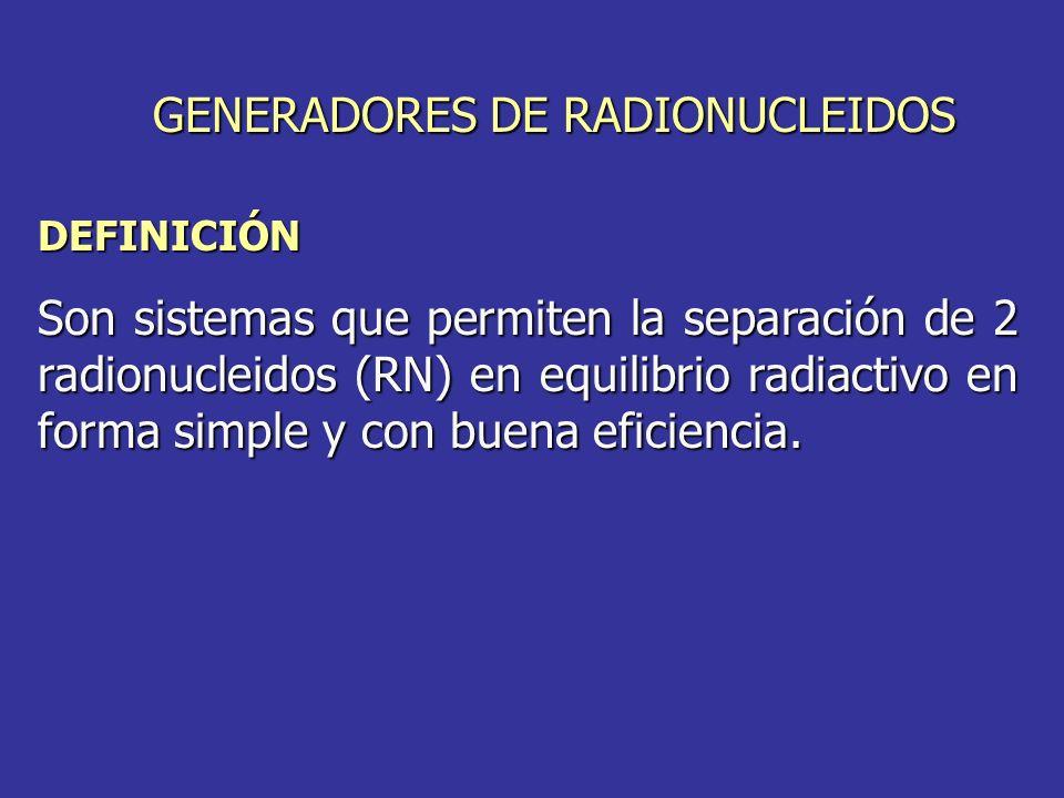 GENERADORES DE RADIONUCLEIDOS
