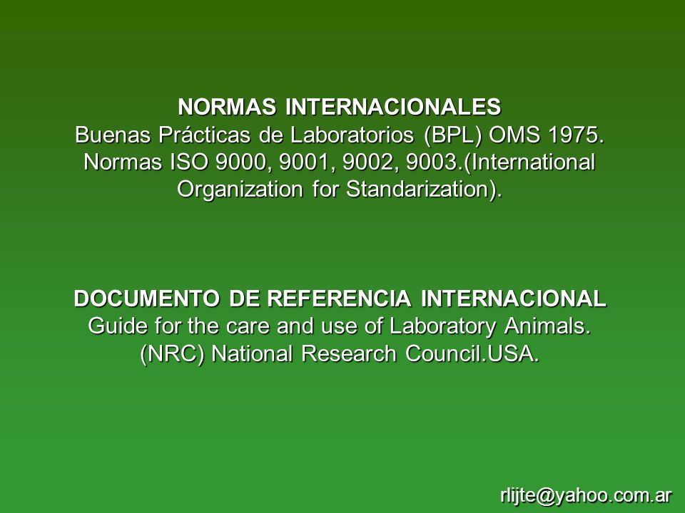 DOCUMENTO DE REFERENCIA INTERNACIONAL