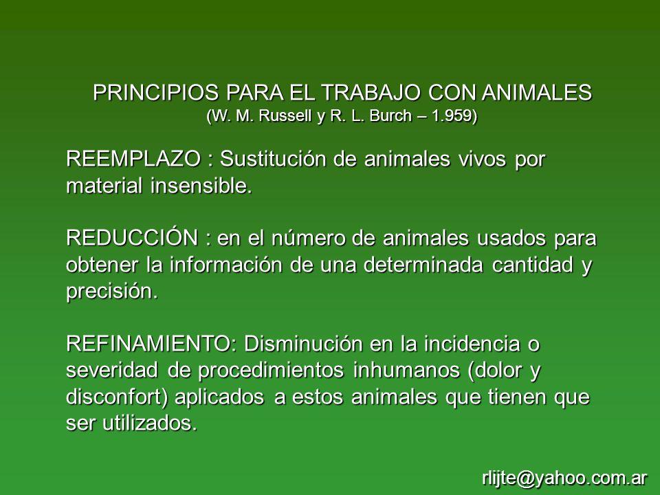 PRINCIPIOS PARA EL TRABAJO CON ANIMALES