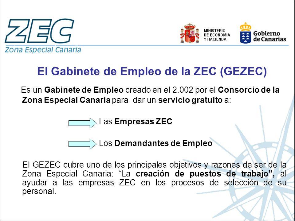 El Gabinete de Empleo de la ZEC (GEZEC)