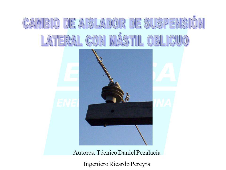 CAMBIO DE AISLADOR DE SUSPENSIÓN LATERAL CON MÁSTIL OBLICUO